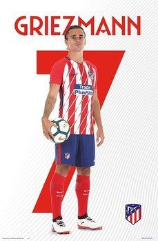 Atletico De Madrid 2017/2018 - Griezmann Poster
