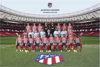 Poster  Atletico Madrid 2018/2019 - Plantilla