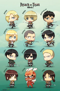 Poster Attack on Titan - Chibi characters