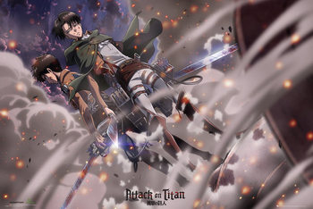 Pôster Attack on Titan (Shingeki no kyojin) - Battle