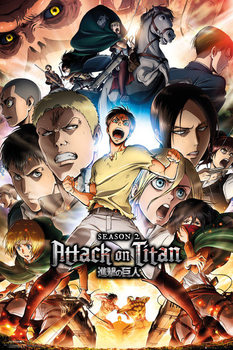 Poster Attack on Titan (Shingeki no kyojin) - Season 2 Collage Key Art