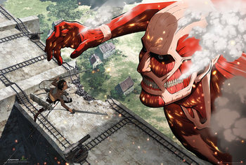 Attack on Titan (Shingeki no kyojin) - Titan Poster, Art Print