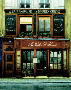 Au Cafe St. Honore Art Print