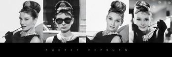 Audrey Hepburn - b & w Poster
