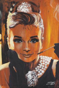 Audrey Hepburn - Breakfast, Fishwick Poster, Art Print