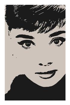 AUDREY HEPBURN - by avela Poster