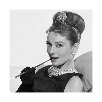 Audrey Hepburn - Cigarette  Art Print