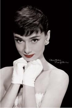 Audrey Hepburn - red lips Poster