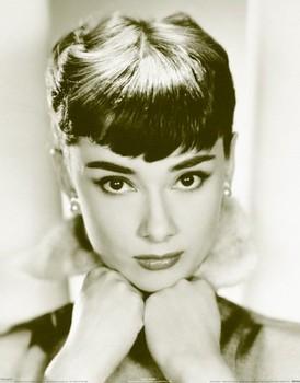 Audrey Hepburn - sepia Poster, Art Print
