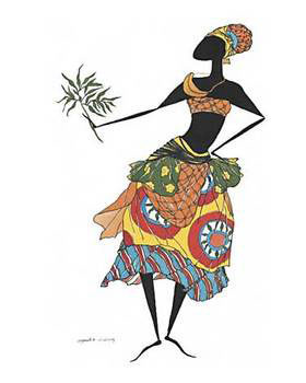 Baga Woman Art Print