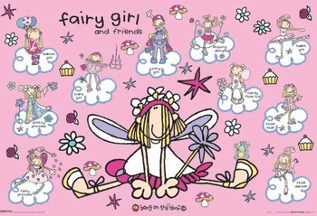 Bang on the door - fairy girl Poster