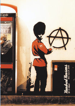 Banksy street art - Graffiti Gardist Anarchie Poster