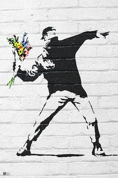 Banksy street art - Graffiti Throwing Flow Poster