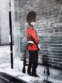 Pôster Banksy Street Art - Queens Guard