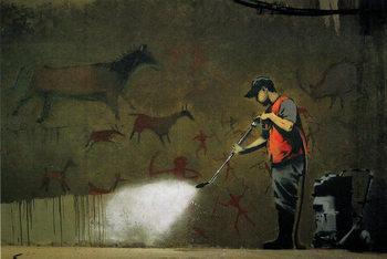 Poster Banksy Street Art - Street Cleaner
