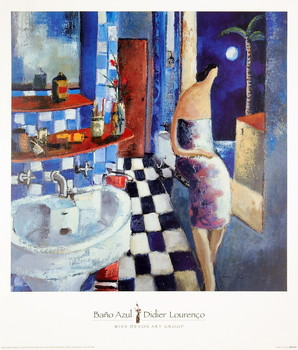 Bano Azul Art Print