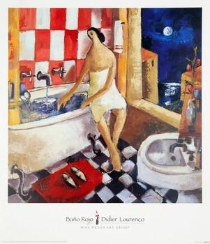 Bano Rojo Art Print