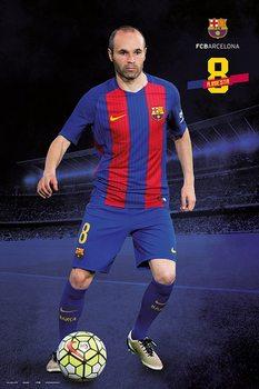 Poster Barcelona 2016/2017 - Andrés Iniesta