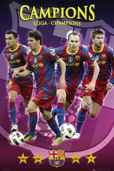 Barcelona - champions Poster