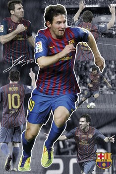 Barcelona - Messi 11/12 collage Poster