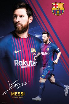 Barcelona - Messi Collage 17-18 Poster