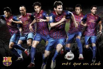 Barcelona - players 11/12 Poster