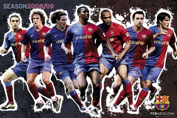 Barcelona - Players 2009 Poster