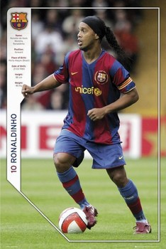 Barcelona - Ronaldinho 07/08 Poster