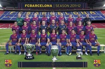 Barcelona - Team foto 11/12 Poster