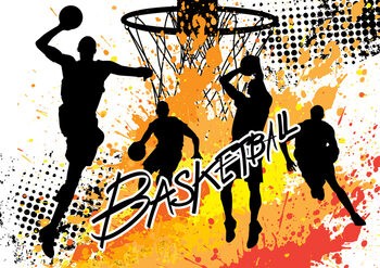 Basketball - Colour Splash Poster