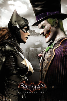 Batman Arkham Knight - Batgirl and Joker Poster, Art Print