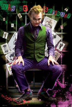 BATMAN DARK KNIGHT - joker jail Poster, Art Print