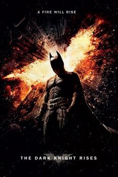 BATMAN DARK KNIGHT RISES - a fire will rise Poster