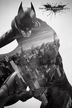 BATMAN DARK KNIGHT RISES - city silhouette Poster