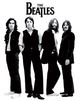 Beatles - white Poster