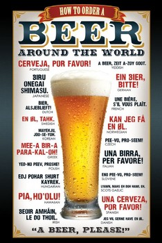 Beer – how to order Poster, Art Print