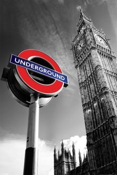 Big Ben & undergroud sign Poster