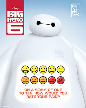 Poster Big Hero 6 - Rate Your Pain