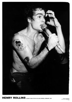 Black Flag - Henry Rollins '81 Poster
