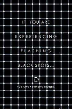 Black flashing dots Poster