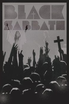 Black Sabath - cross Poster