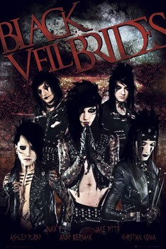 Black veil brides Red Poster