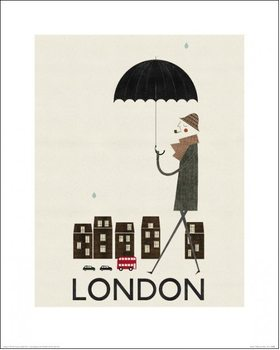 Blanca Gomez - London Art Print