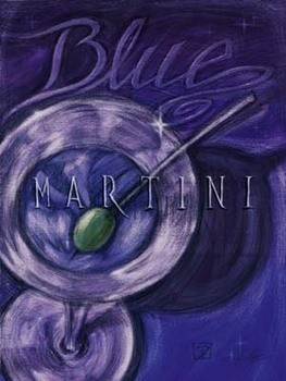 Blue Martini Art Print