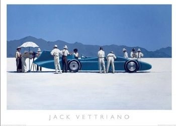 Bluebird at Bonneville, 1995 Art Print