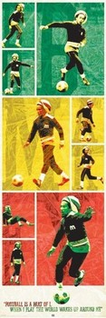 Bob Marley - football Poster
