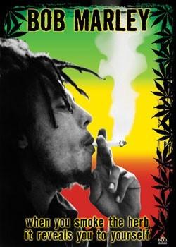 Pôster Bob Marley - herb