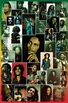 Bob Marley - Photo Collage Poster, Art Print
