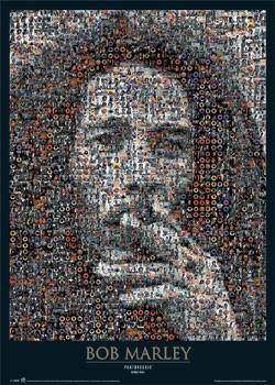 Pôster Bob Marley - photomosaic
