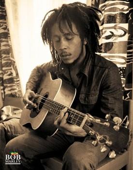 Bob Marley - sitting Poster